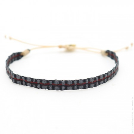 Argentinas dark grey and red bracelet
