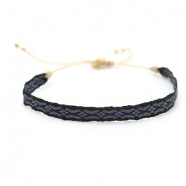 Argentinas black, grey and blue bracelet