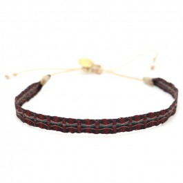 Argentinas grey and burgundy bracelet