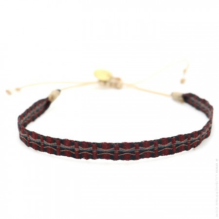 Bracelet Argentinas burgundy gris