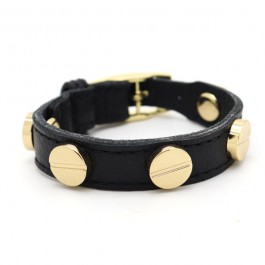 Gold Black Screw Bracelet