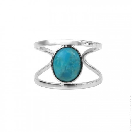 Silver platted turquoise ring