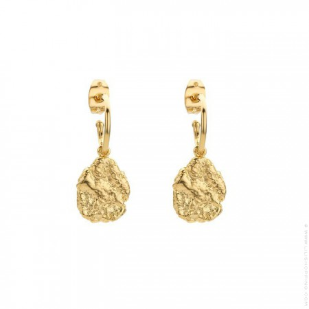 Pepite gold platted earrings