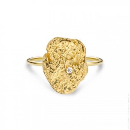 Bague Pépite plaquée or