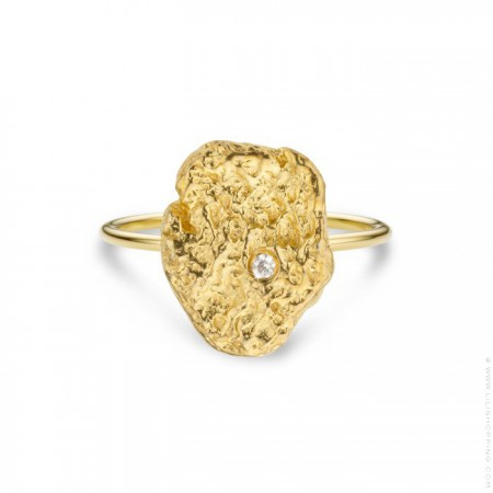 Pepite gold Plated Ring