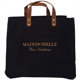 Black Mademoiselle bag Mademoiselle Place Vendome gold glitter
