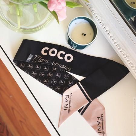 Foulard Coco mon Amour - Mademoiselle Fani