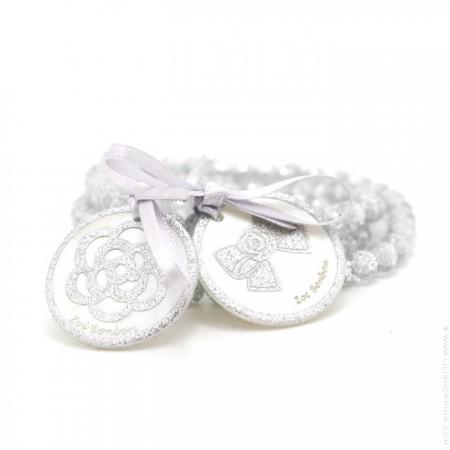 Bracelet / collier double nacre silver