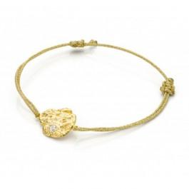 Bracelet cordon Pépite d'or