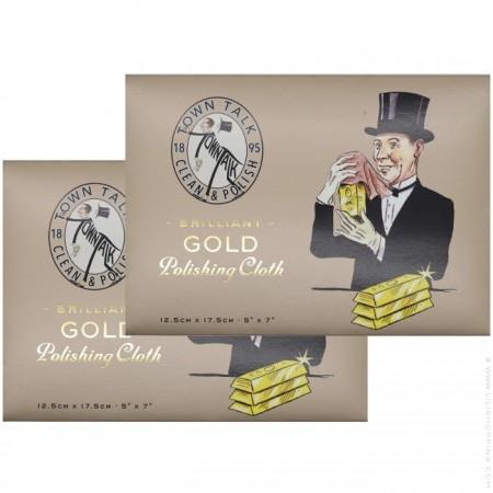 Set de 2 étoffes spéciales bijoux or et plaqué or