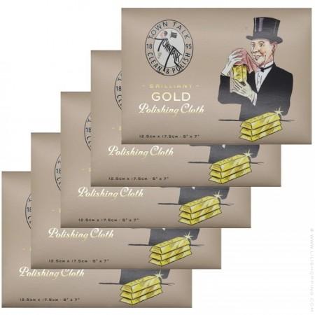 Set de 5 étoffes spéciales bijoux or et plaqué or