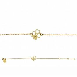 Bracelet chaine Trèfle plaqué or