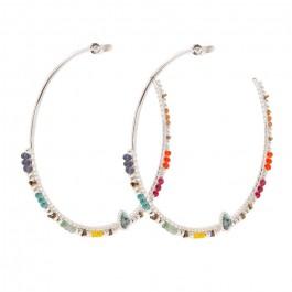 Angkor silver Hipanema hoops earrings