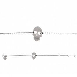 Bracelet chaine Skully en argent
