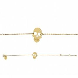 Bracelet chaine Skully plaqué or Les étoiles de Lily