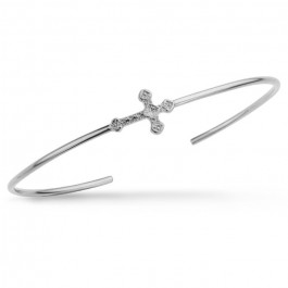 Little Barcelona cross silver platted bracelet