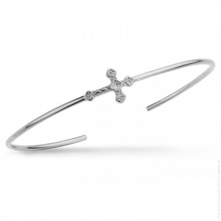Little Barcelona cross silver platted bracelet