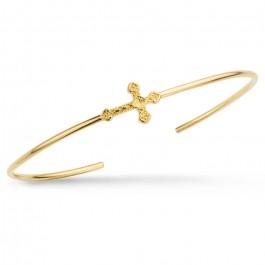 Little Barcelona cross gold platted bracelet