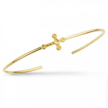 Little Barcelona cross gold platted bracelet