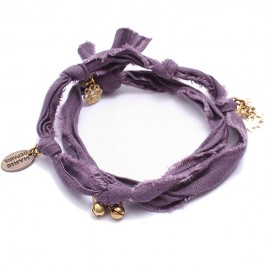Bracelet doudou prune