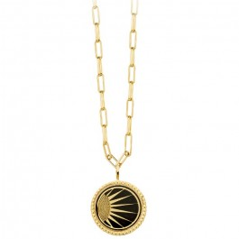 Ivory enamelled Divine Gold platted necklace