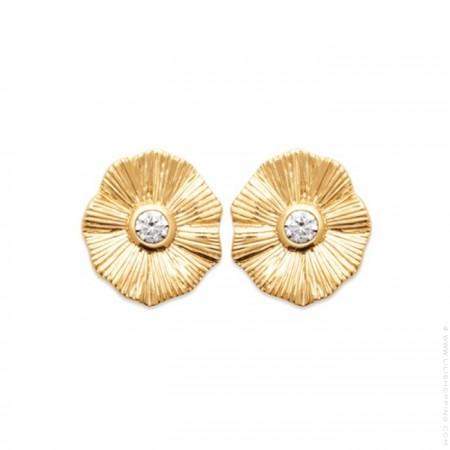 Gold platted Flora earrings