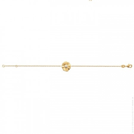 Bracelet Flora plaqué or