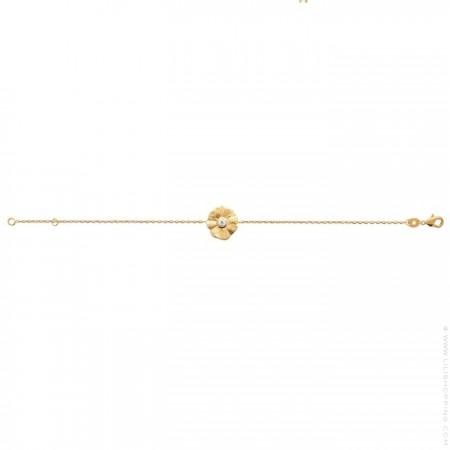 Flora gold platted bracelet