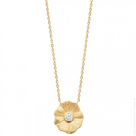 Gold platted Florac necklace