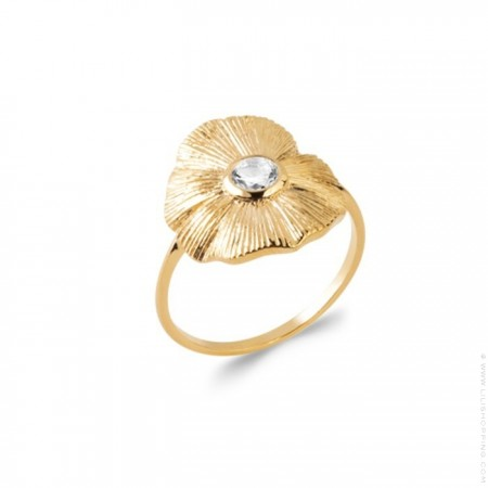 Flora gold platted ring