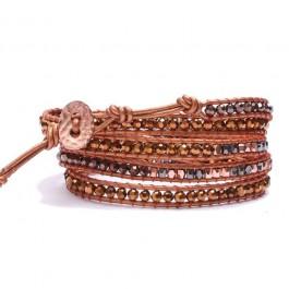 Bracelet wrap copper strass Nakamol