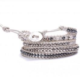 Bracelet wrap light grey Nakamol