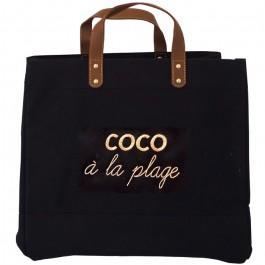 Black Mademoiselle bag Coco à la plage gold glitter
