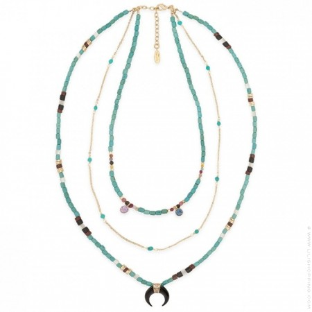 Collier Hipanema Geronimo turquoise