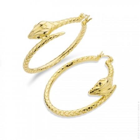 Boucles d'oreilles Serpiente plaquées or