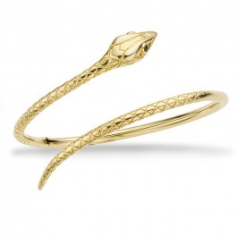 Serpiente gold platted bracelet