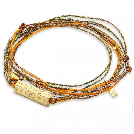 Martinique orange multi cord bracelet