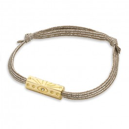Gold plated Martinique cord bracelet