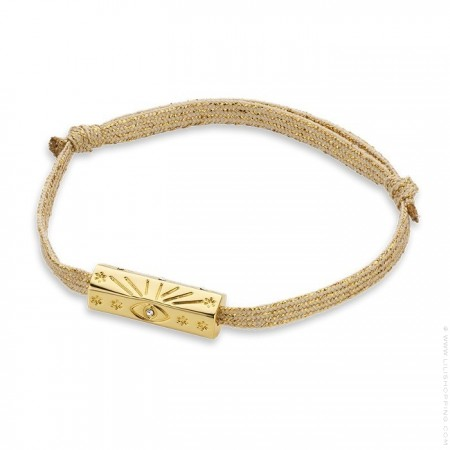 Bracelet cordon doré irisé Martinique plaquée or