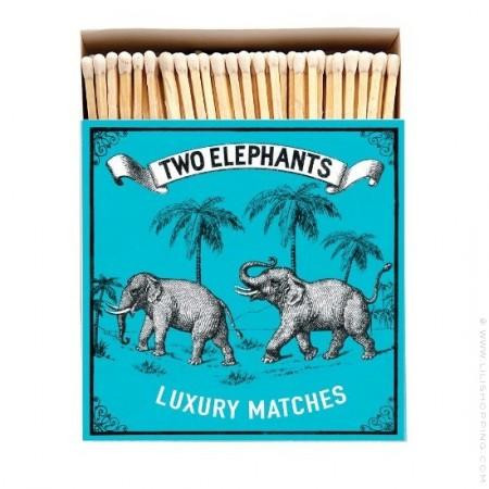 Two elephants Luxury matchbox