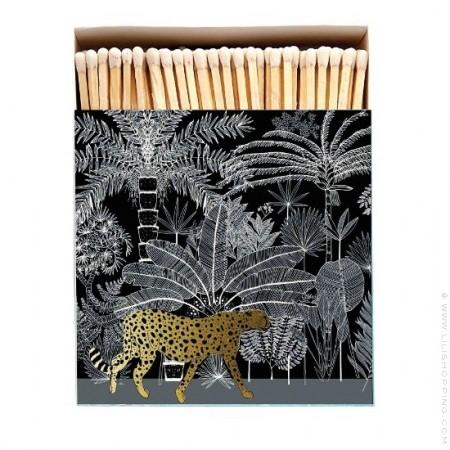 Grandes allumettes guépard noir