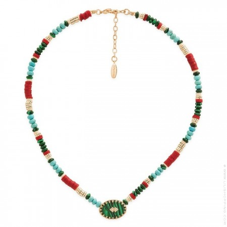 Hipanema Bessame green necklace