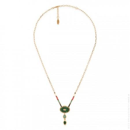 Hipanema Enamorado green necklace