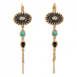 Boucles d'oreilles Hipanema Mayhem black