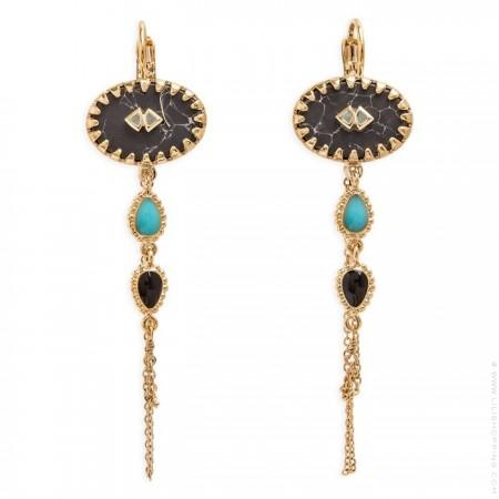 Mayhem black Hipanema earrings