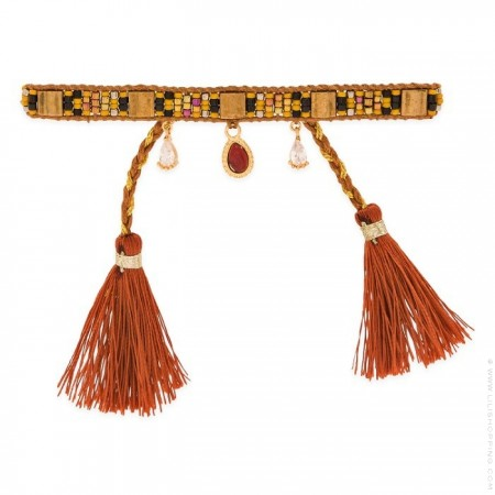 Plume caramel Hipanema bracelet