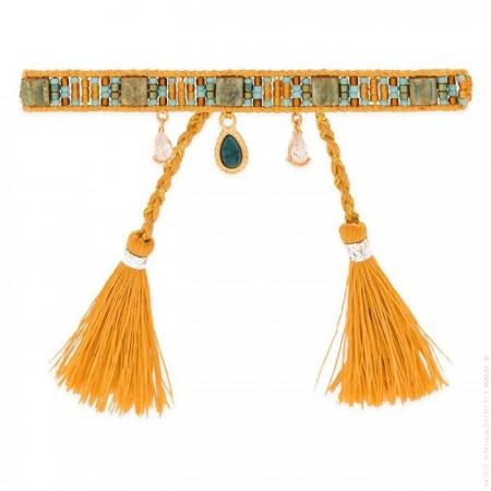 Plume ocre Hipanema bracelet