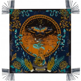 Dark Side navy pareo (sarong) or scarf