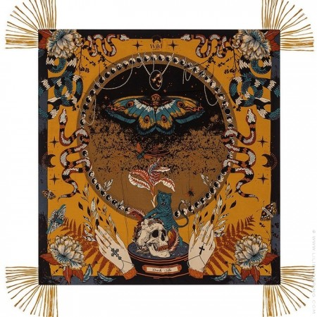 Dark Side ocre pareo (sarong) or scarf