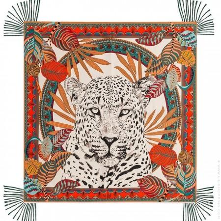 Jaguar beige pareo (sarong) or scarf